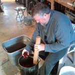 Steve B. pulping apples