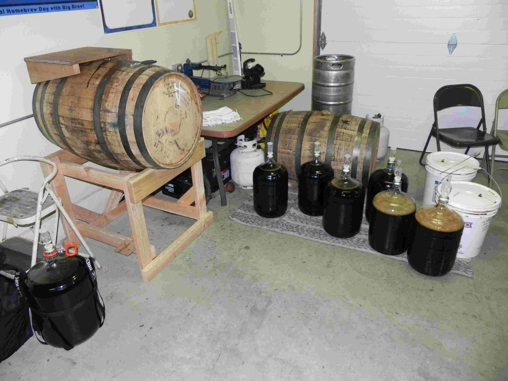 Ready to fill the barrel