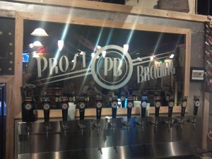 Prost Brewing Company Tap Wall