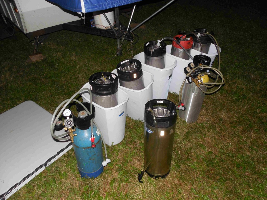 Kegged competition beers