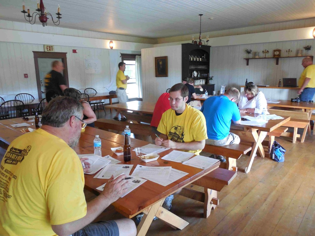 Busy groups of beer judges