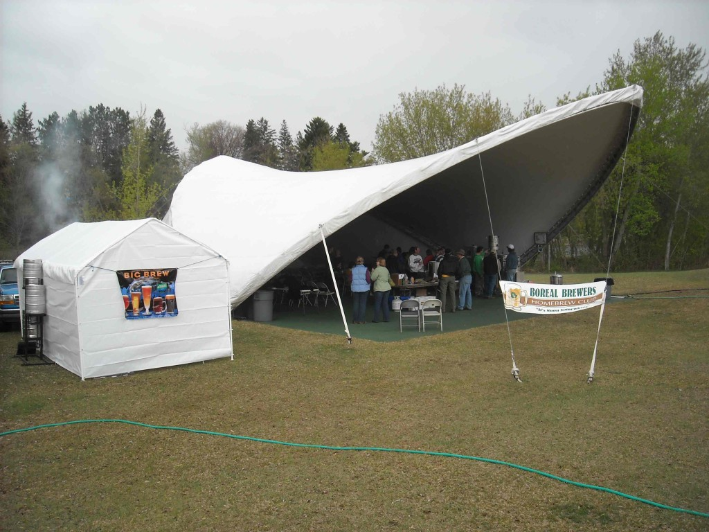 KAXE Radio's tent on the Mississippi River