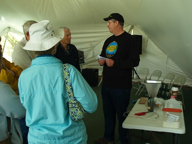 Chad describing homebrewing to attendees